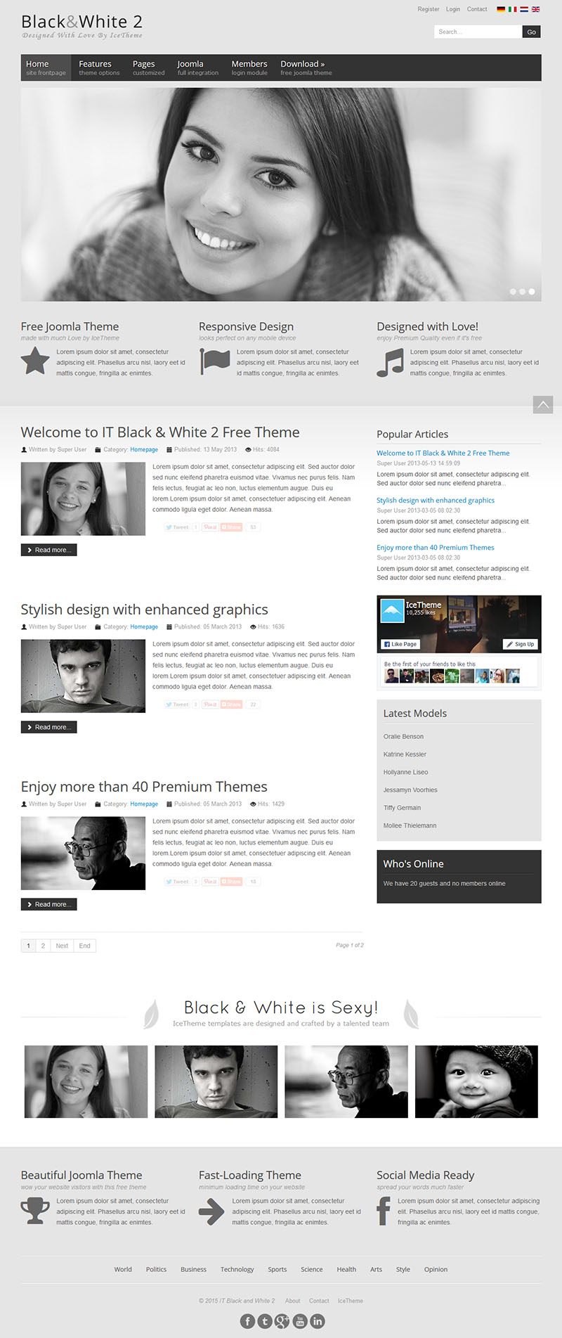 Шаблон IT Black White 2 для Joomla 3.4